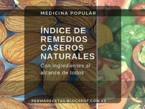 Listade Remedios Naturales, Fichas de Plantas